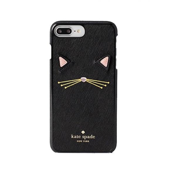 online store 0f2c8 bf0bd Kate Spade Cat Appliqué iPhone 7/8 Plus Case